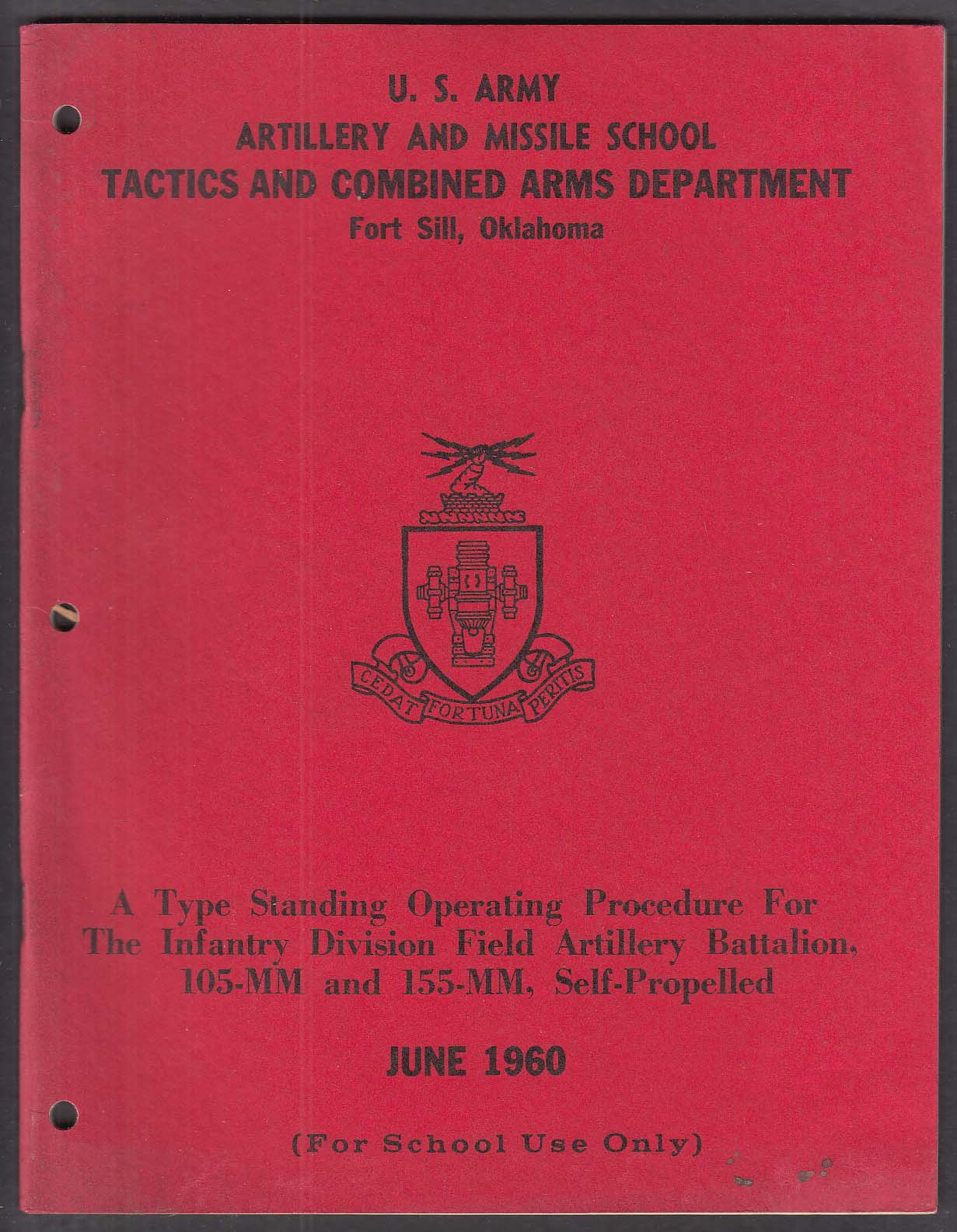 US Army Artillery & Missile School Fort Sill OK 105mm 155mm + 6 1960
