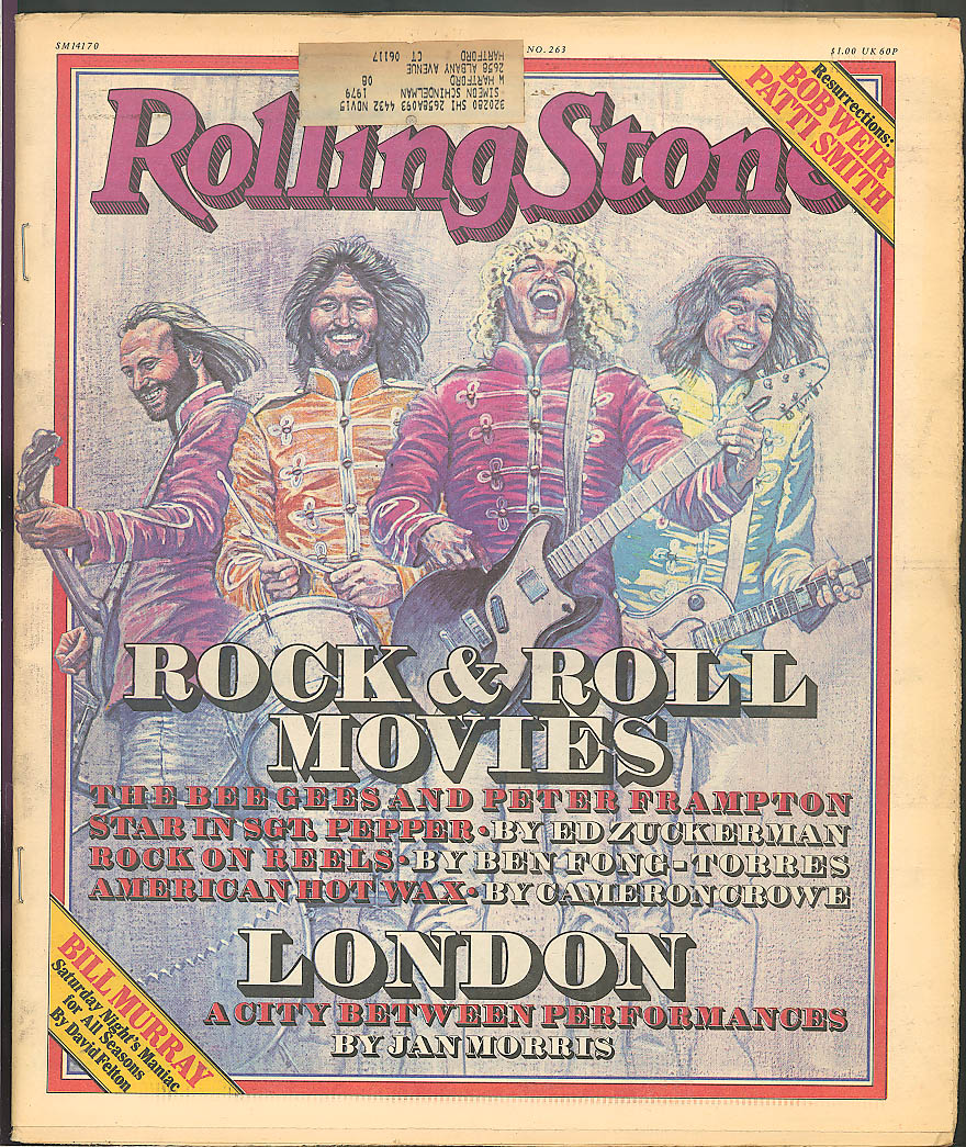 ROLLING STONE Bee Gees Sgt Pepper Bill Murray Bob Weir Patti Smith ++ 4/20 1978