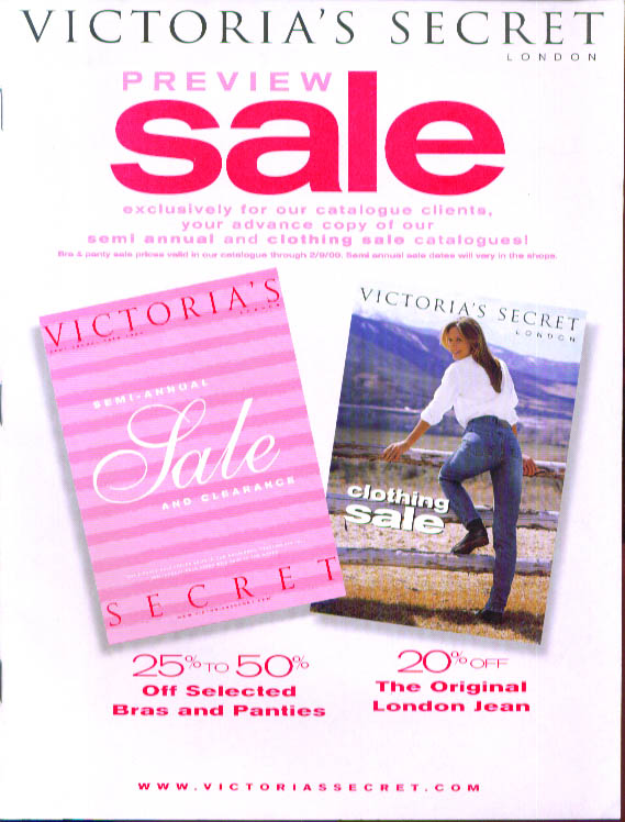 Victoria's Secret London Fall Preview Sale 1999