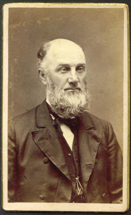 Excellent Full Grey Beard Bald Man Cdv R E Lord Boston Ma 1880 Short Hairstyles For Black Women Fulllsitofus