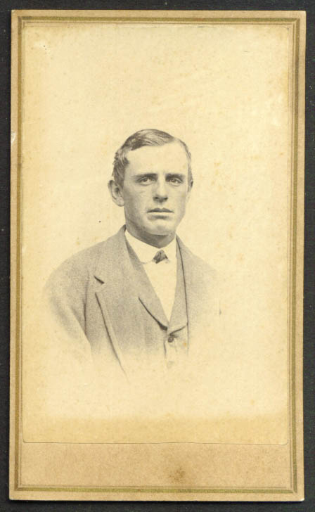 Strong jaw grey suit man CDV Hendee: Augusta ME