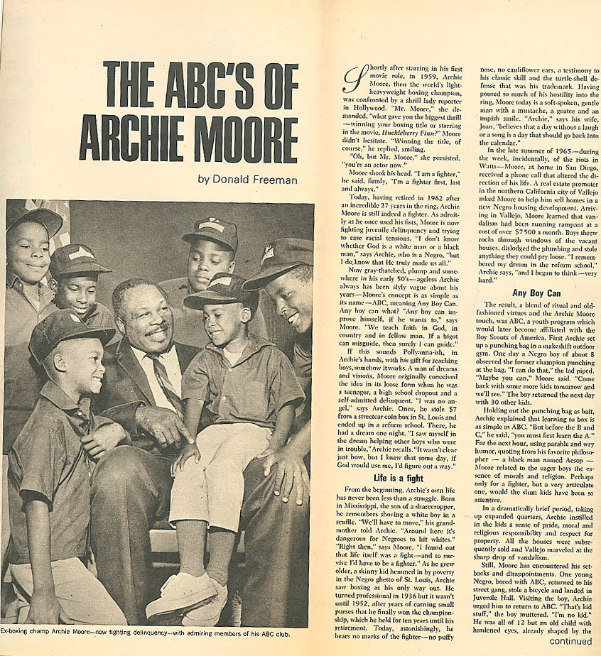 PARADE Hartford Courant Ohio U Campus Protest; Archie Moore 9/8 1968