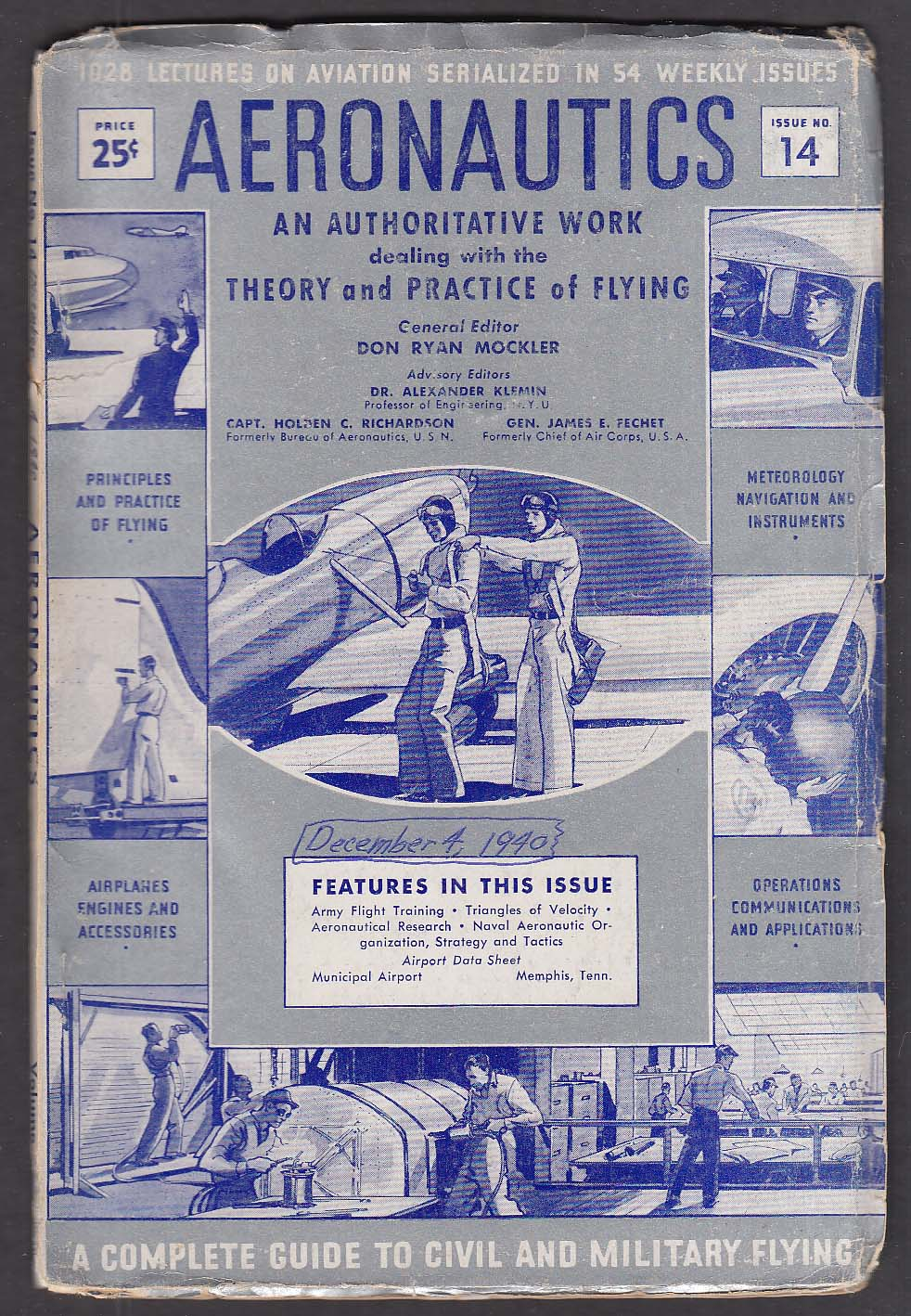 AERONAUTICS #14 Army Training; Naval Air Tactics ++ 12/4 1940