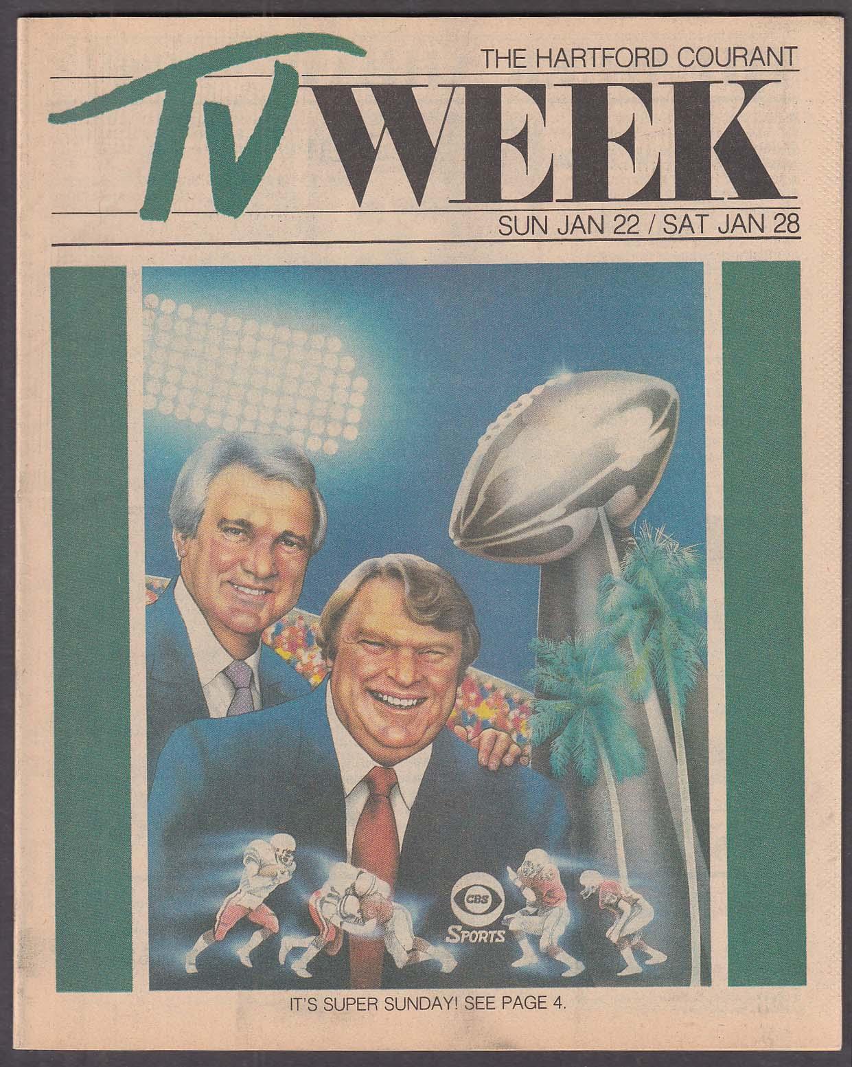 TV WEEK Summerall Madden Super Bowl Hartford Courant 1/22 1984