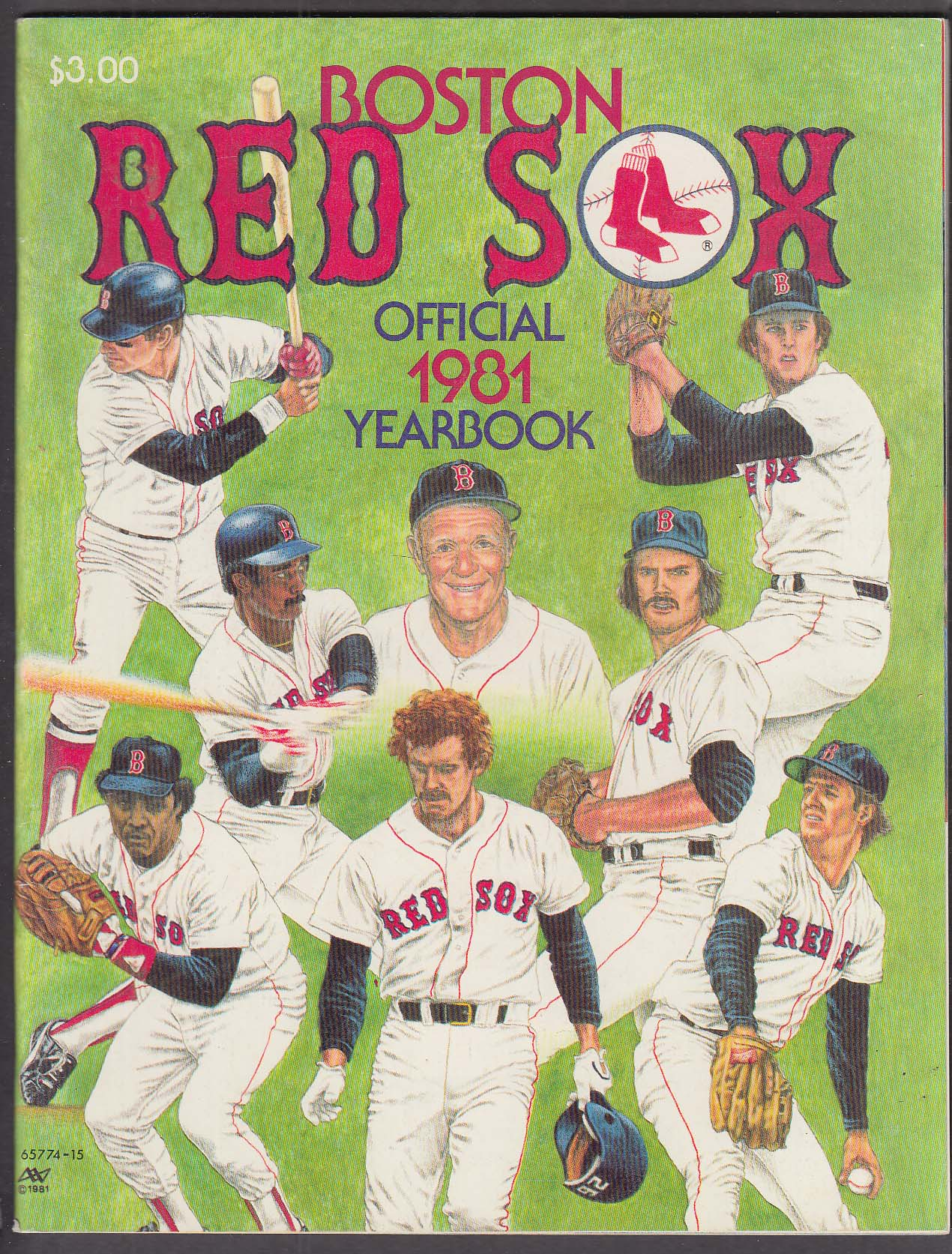 1981 Boston Red Sox Yearbook 1st edition