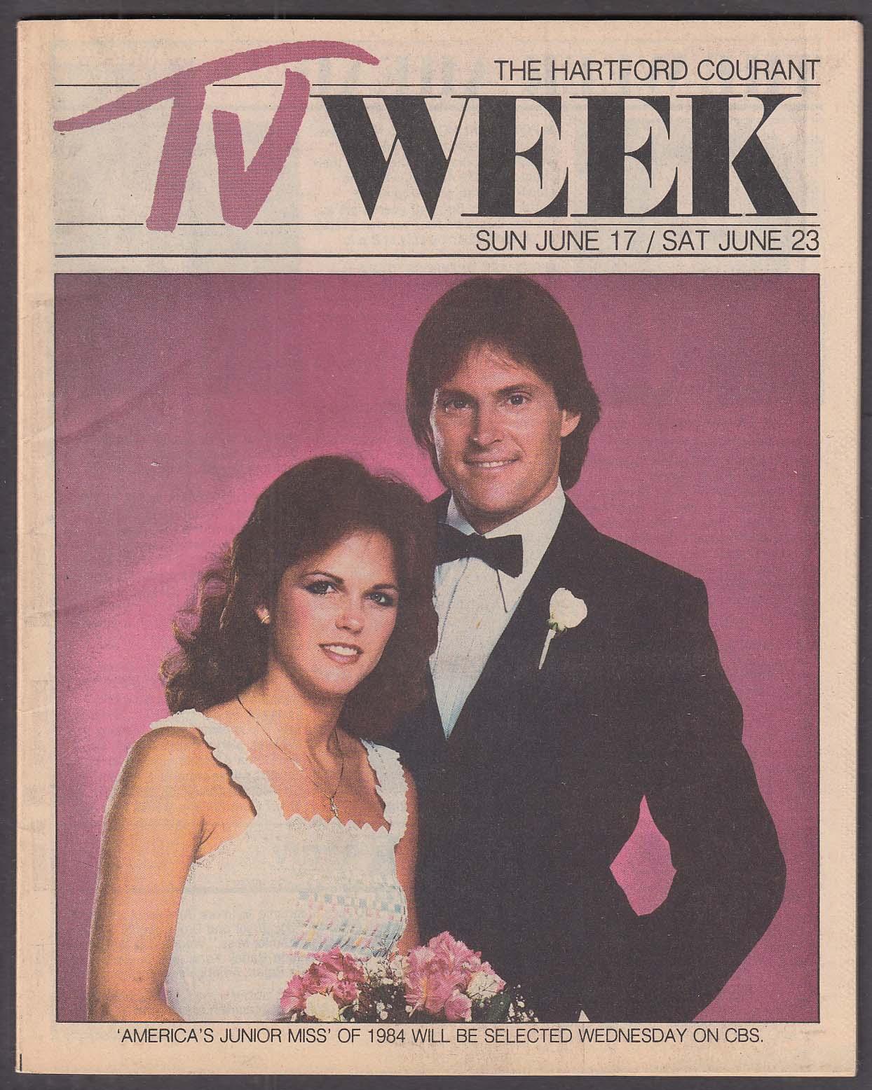 Image for TV WEEK Hartford Courant Bruce Jenner Stephanie Ashmore Junior Miss 6/7 1984
