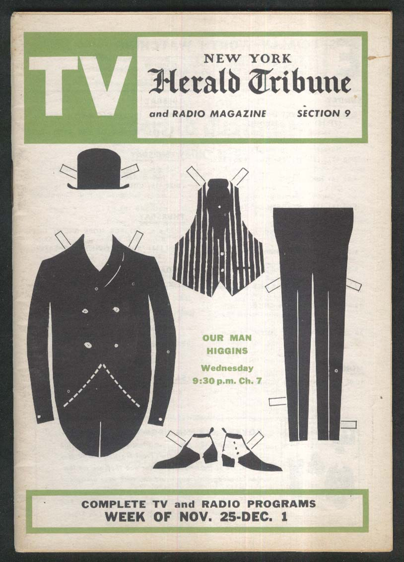 Image for New York Herald-Tribune TV section 11/25 1962