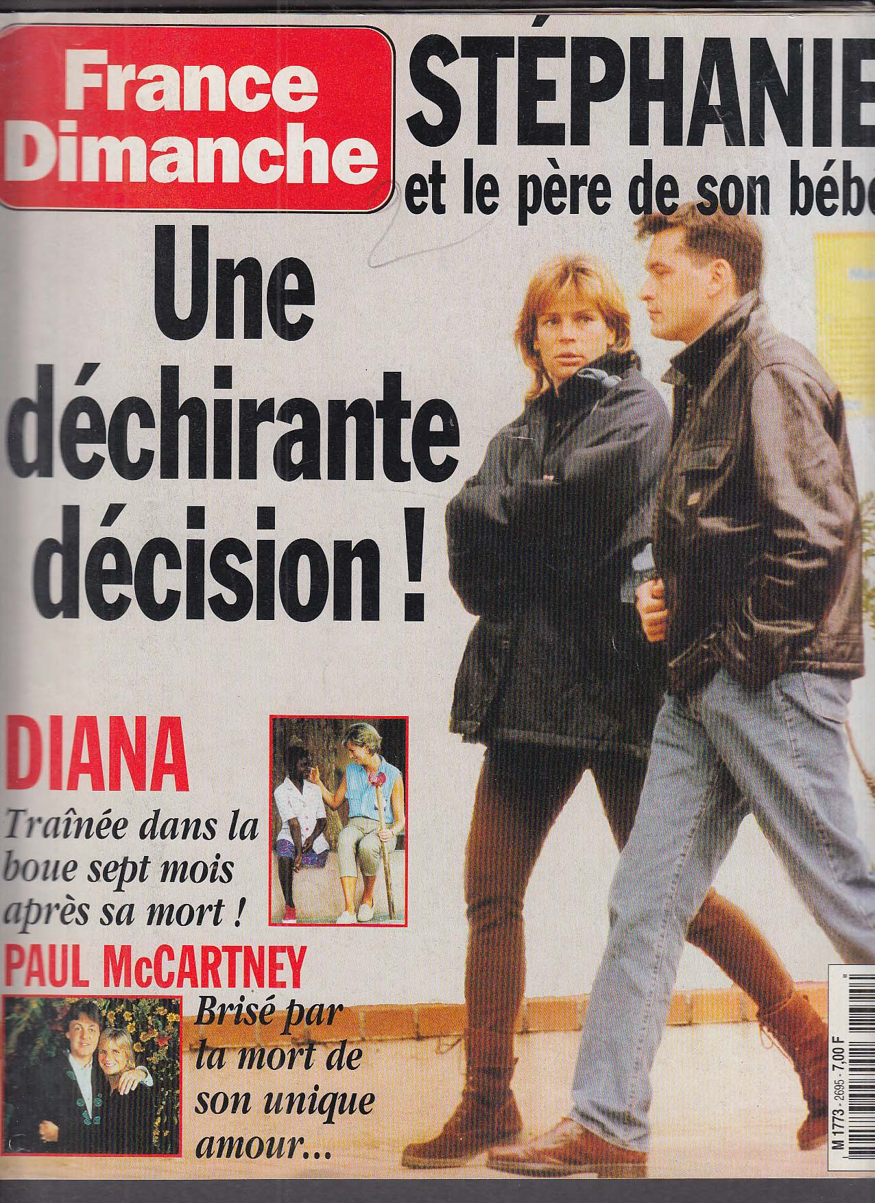 FRANCE DIMANCHE Princess Stephanie Diana Paul & Linda McCartney 4/30 1998
