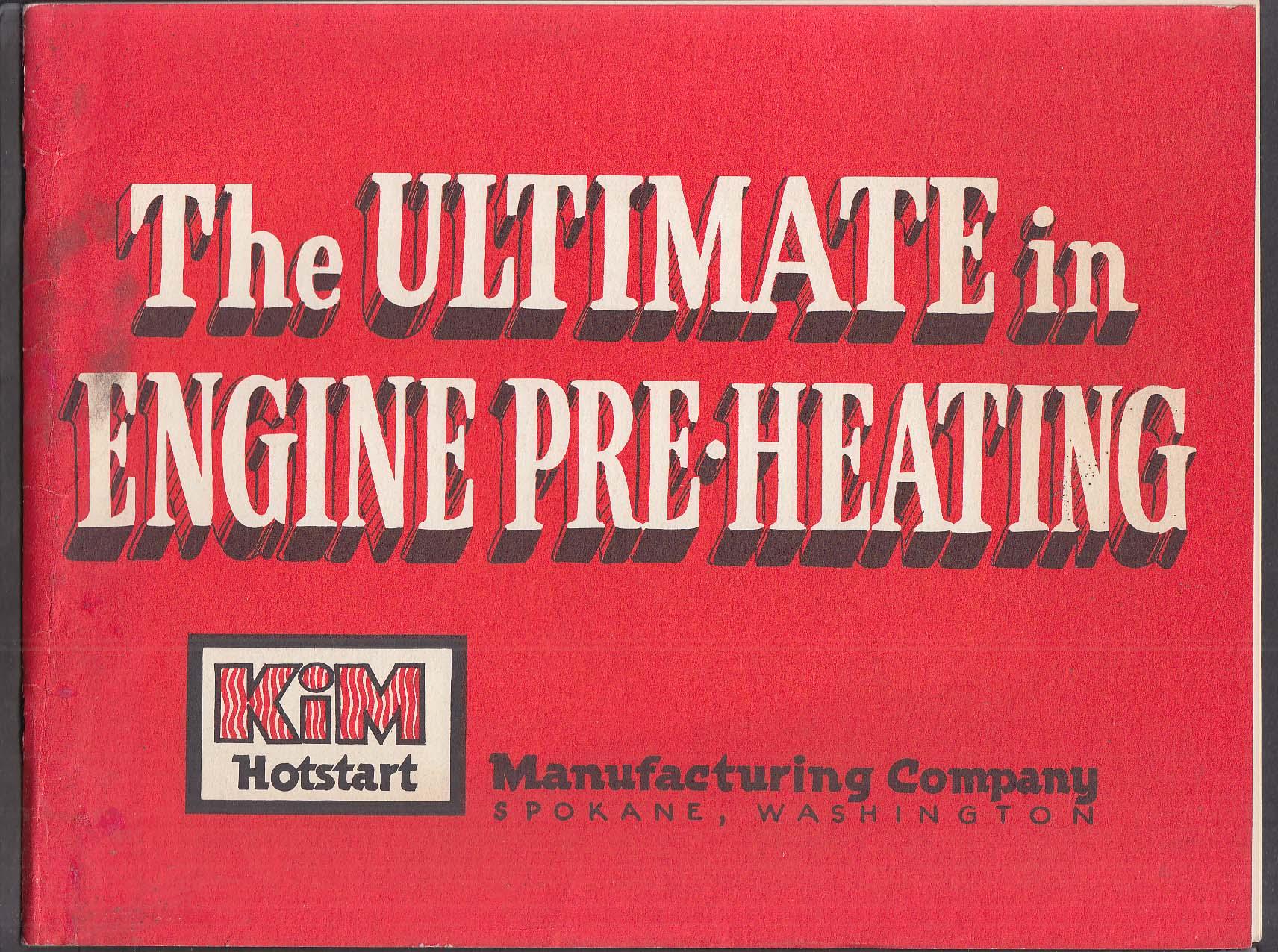 Kim Hotstart Diesel Engine Pre-Heater brochure 1960s