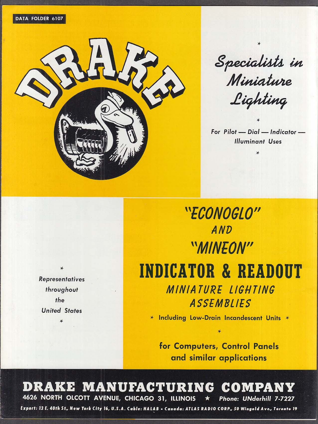 Drake Indicator & Readout Miniature Lighting catalog