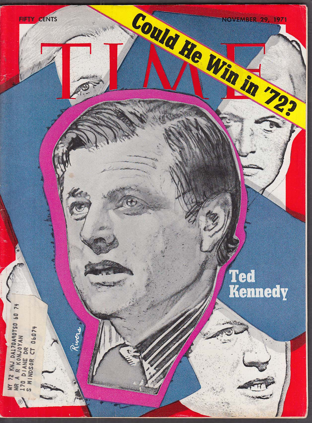 TIME Ted Kennedy by Larry Rivers Castro in Chile 11/29 1971