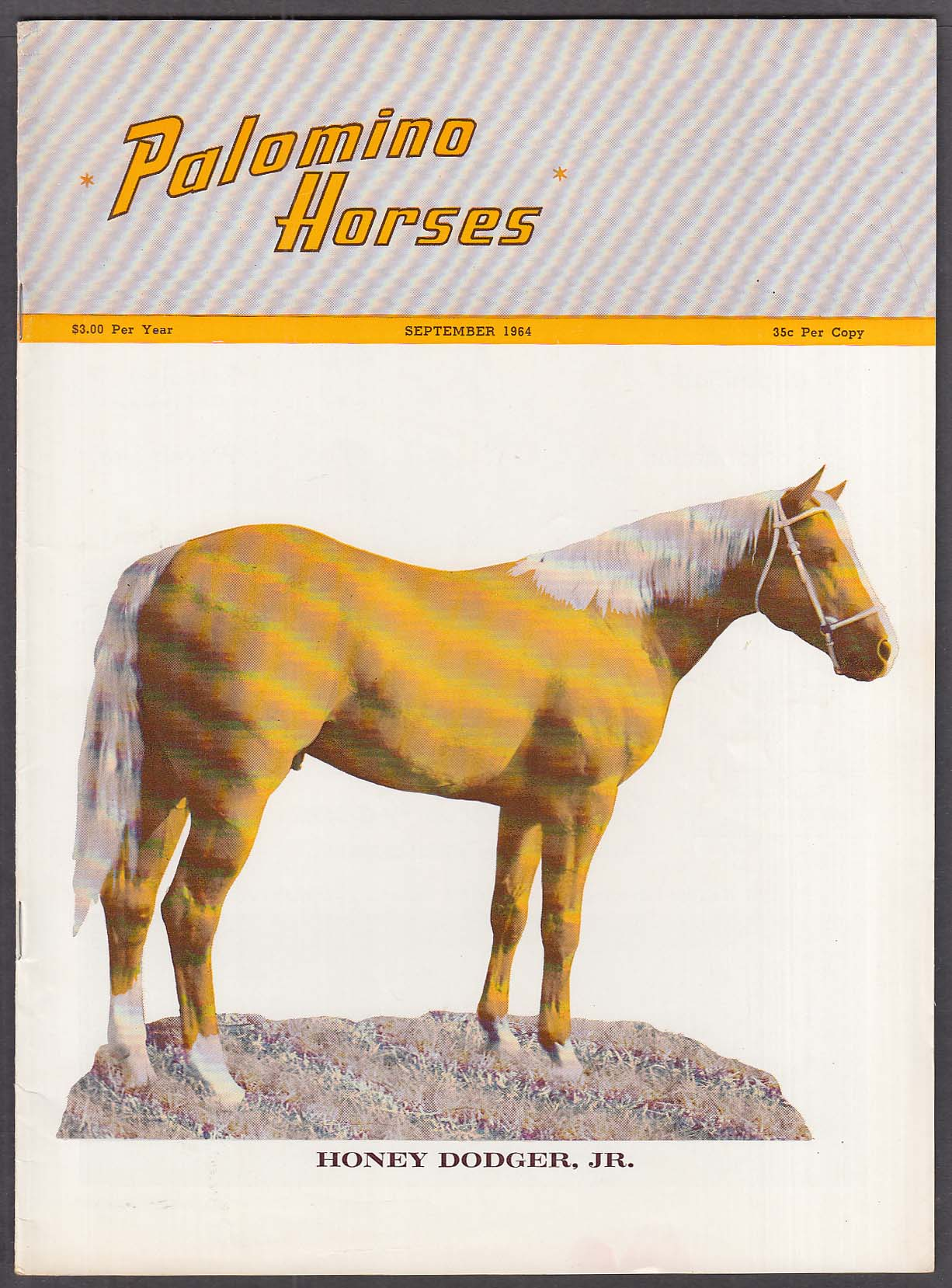PALOMINO HORSES Honey Dodger Jr K Ranch 9 1964
