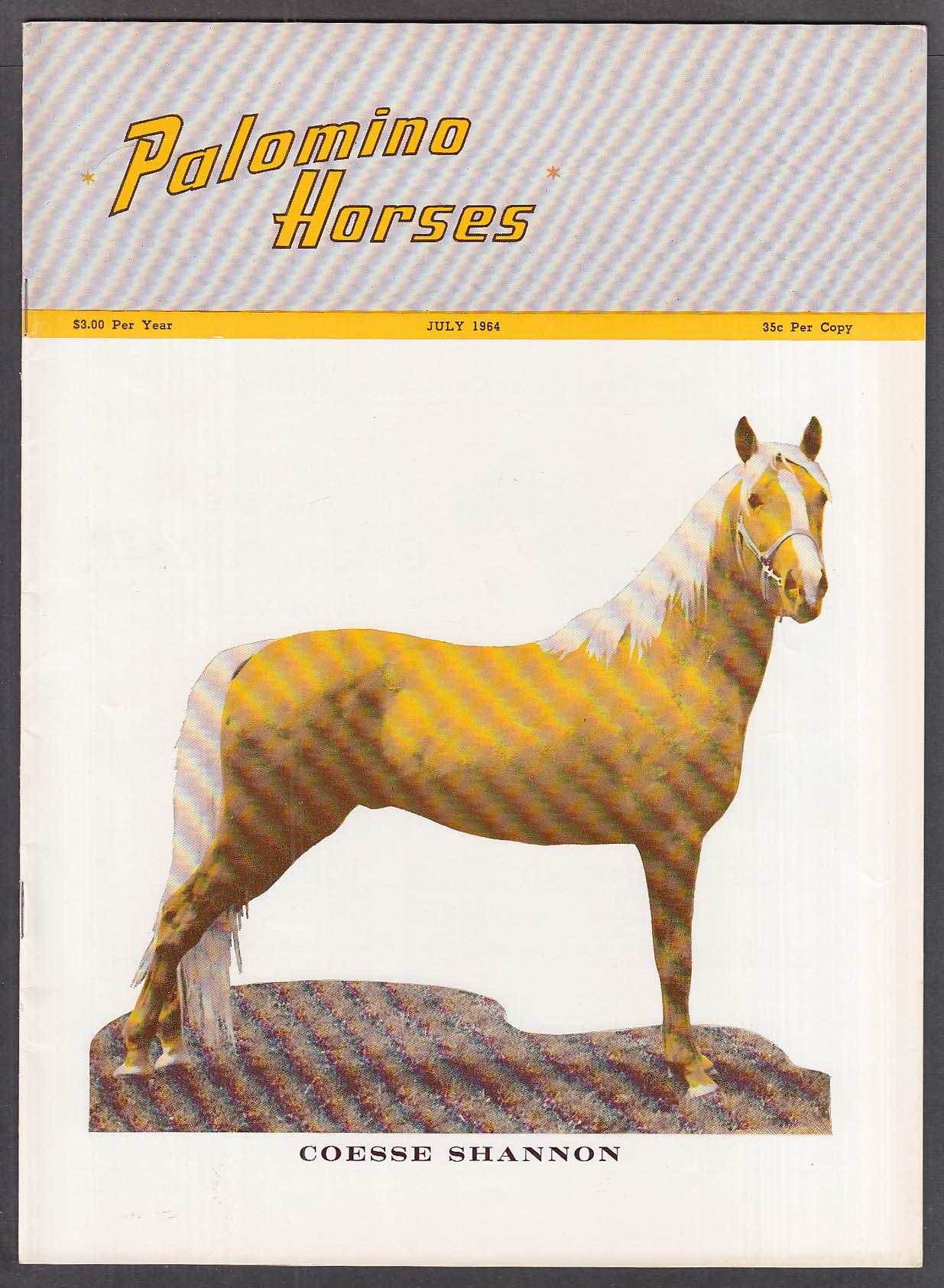 PALOMINO HORSES Coesse Shannon Lipizzan 7 1964