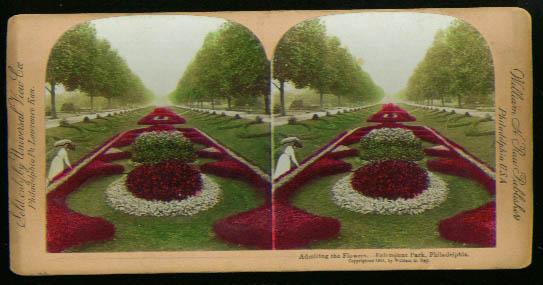 Flowers Fairmount Park Philadelphia 1901 stereoview