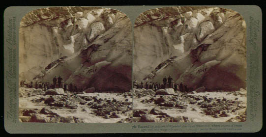 Image for Crowd at Kjendal Glacier Norway 1905 stereoview