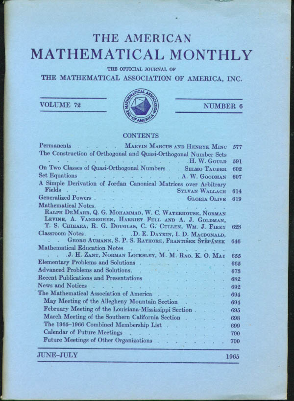 the american mathematical monthly pdf