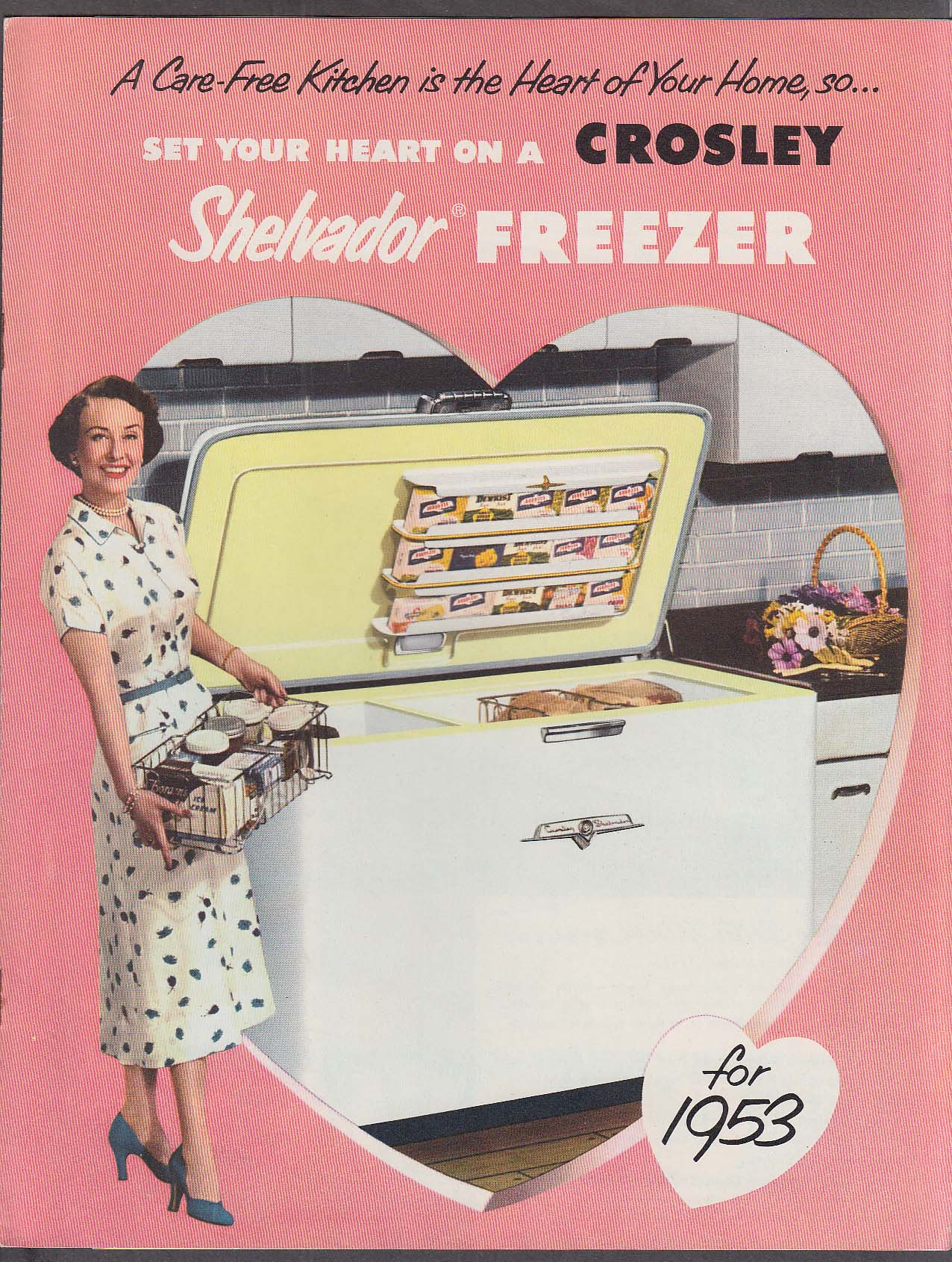 1953 Crosley Shelvador Freezer catalog