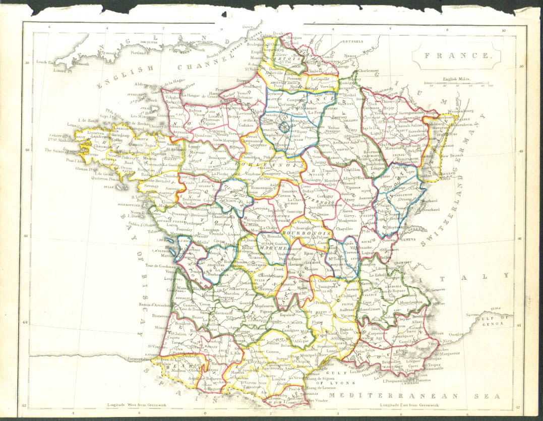 1848 color map: France complete