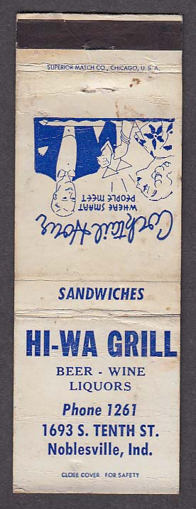 Image for Hi-Wa Grill 1693 S Tenth St Noblesville IN matchcover