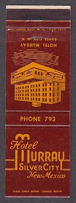 Image for Hotel Murray Silver City NM matchcover