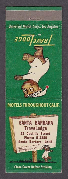 Image for Santa Barbara TraveLodge 22 Castillo St Santa Barbara CA matchcover