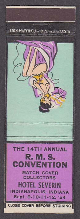 Image for 14th Annual RMS Convention Hotel Severin Indianapolis IN pin-up matchcover