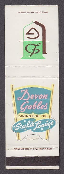 Image for Devon Gables Starlit Lounge matchcover