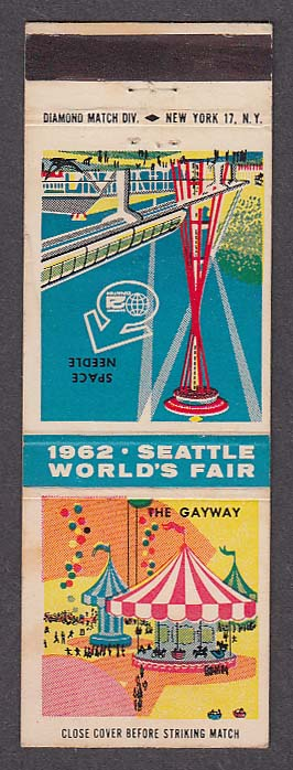 Image for The Gayway 1962 Seattle World's Fair Space Needle matchcover