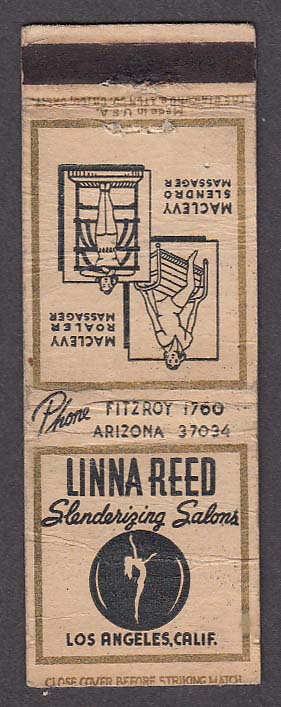 Image for Linna Reed Slenderizing Salons Los Angeles CA MacLevy Massagers matchcover