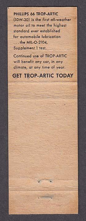 Image for Al's 66 Service Trop-Artic Motor Oil Cel & Al Stetz Fullerton NE matchcover