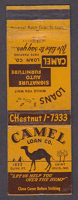 Image for Camel Loan Co Signature Auto Furniture matchcover