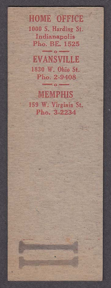 Image for Ellis Trucking Company Memphis TN matchcover proof
