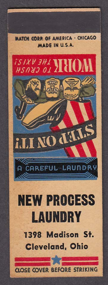 Image for New Process Laundry 1398 Madison St Cleveland OH WWII matchcover proof