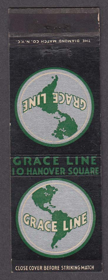Image for Grace Line 10 Hanover Square matchcover