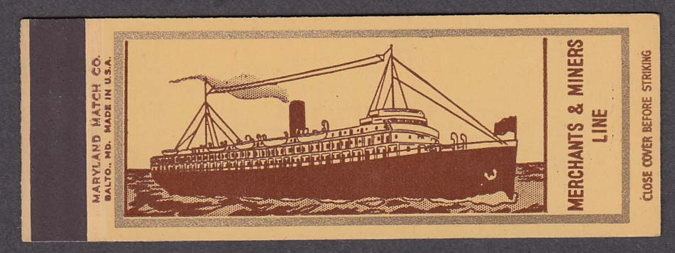 Image for Merchants & Miners Line matchcover