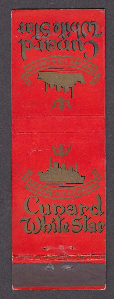 Image for Cunard White Star Line matchcover