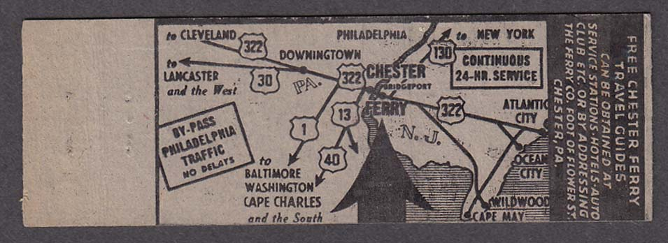 Image for Chester Bridgeport Ferry 24 Hour Service route map matchcover