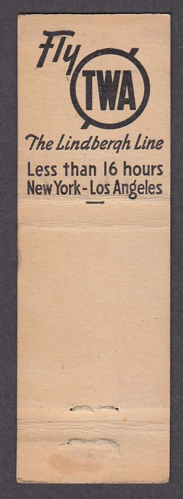 Image for Trocadero 8610 Sunset Blvd Stork Club 3 East 53rd St NYC TWA matchcover