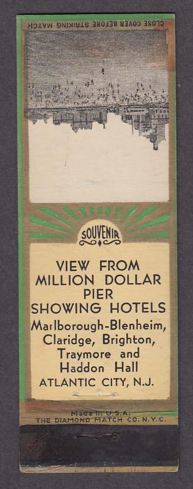 Image for Marlborough-Blenheim Claridge Brighton Traymore Haddon Atlantic City matchcover