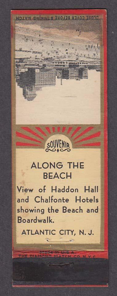 Image for Haddon Hall & Chalfonte Hotel Atlantic City NJ matchcover