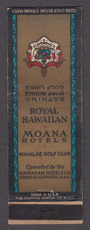 Image for Royal Hawaiian Moana Hotels Waialae Golf Club matchcover