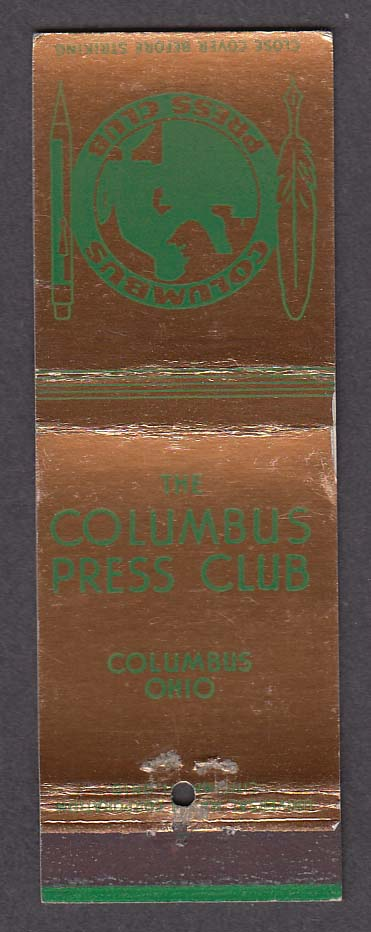 Image for The Columbus Press Club Columbus OH gold & green matchcover