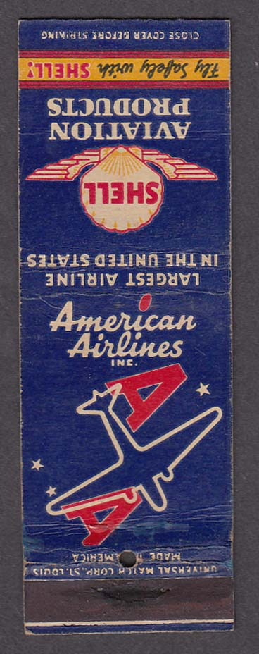 Image for American Airlines Inc & Shell Aviation Products matchcover