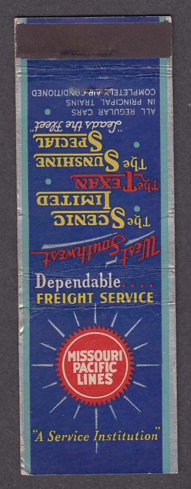 Image for Missouri Pacific Lines Scenic Limited Texan Sunshine Special matchcover