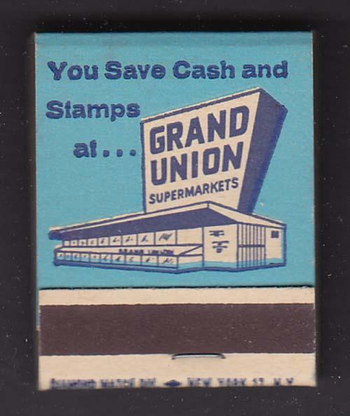 100% Pure Corn Oil Margarine at Grand Union Supermarkets matchbook