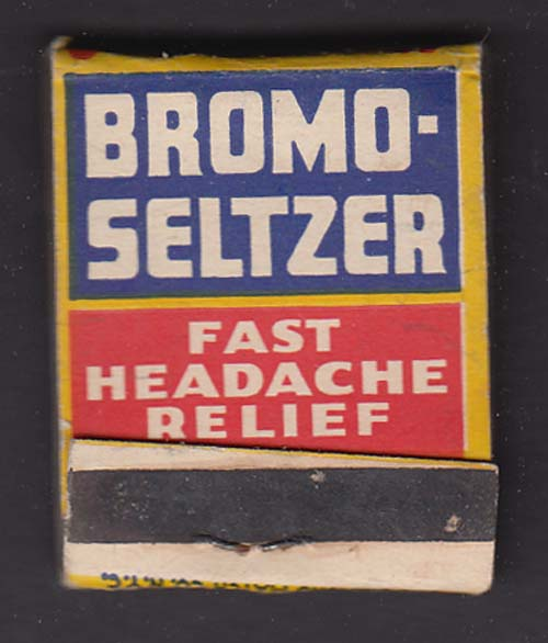 Emerson's Bromo-Seltzer Headache Relief matchbook