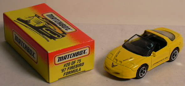 1997 Firebird Formula Matchbox #20/75 MIB