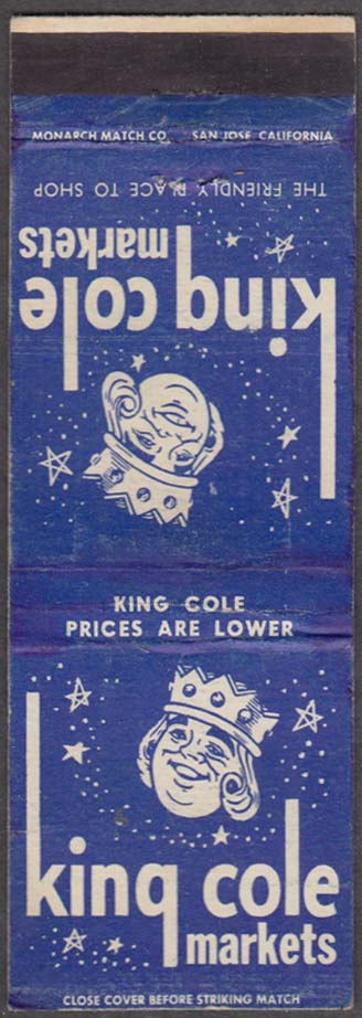 King Cole Markets matchcover