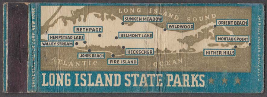 Long Island State Parks map matchcover