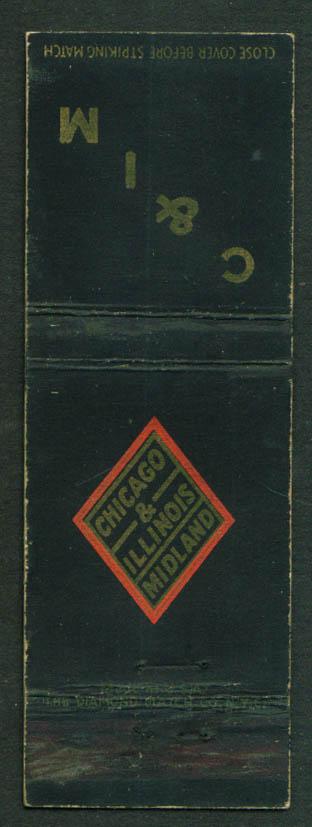Chicago & Illinois Midland Railroad matchcover 40s